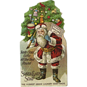 Santa Claus Soap Die Cut, Victorian Trade Card (A)
