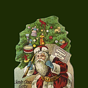 Santa Claus Soap Die  Cut, Victorian Trade Card (B)