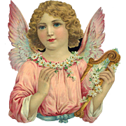 Large Die Cut Angel with Attached Wings