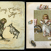 1892 A Long Time Ago, Favorite Stories Re-Told by Mrs. Oscar Wilde, Pub. Nister, Beautiful Chromo / Dolls