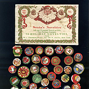 c. 1915 Santa's Novelties, Christmas Stickers in Envelope