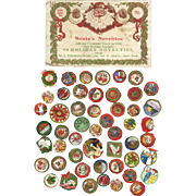 c. 1915 Santa's Novelties, Christmas Stickers in Envelope