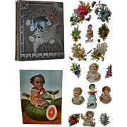 Victorian Scrapbook, Die Cuts, Children, Cats, Dogs, Anthropomorphic, Prints, Flowers, Ladies (A)