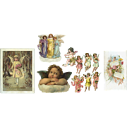Group of Victorian Die Cut Angels, Cherubs, Fairy Soap Advertising Card (A) - Red Tag Sale Item