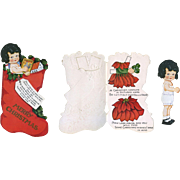 1930's Christmas Paper Doll Book, Poinsettia Costume, Uncut, Cute!