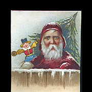 Unusual Santa Image on c.1900 Christmas Card