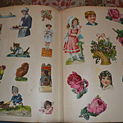Antique Scrapbook, Lots of Die Cuts, Children, Santa, Flowers, Animals; Mabel Lucie Attwell