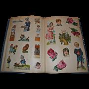 Antique Scrapbook, Lots of Die Cuts, Children, Santa, Flowers, Animals; Mabel Lucie Attwell
