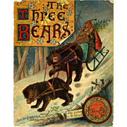 1888 The Three Bears, Scarce Richard Andre Illustrated, McLoughlin Book, Full Color Pages