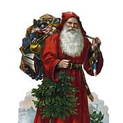 Large Santa Claus Victorian Die Cut