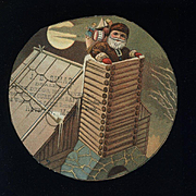 c.1880s Santa in Chimney Advertising Cut Out