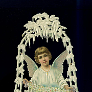 Die Cut Deeply Embossed Angel Inside Icicle Bell