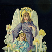 "6"" Victorian Die Cut Angel and Girl"