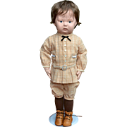 "17"" Schoenhut Walkable Toddler, Fully Dressed in Custom Outfit, Boots"