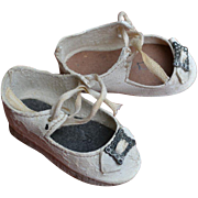 "Scarce Authentic Schoenhut Shoes for 17"" Walkable Toddler Dolls"