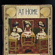 c1881 At Home, Marcus Ward, Illus by Sowerby, Thomas Crane, Victorian Children's Book