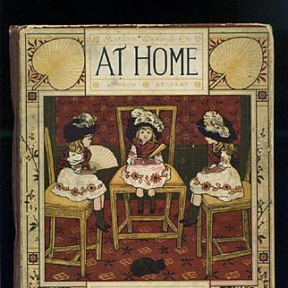 c1881 At Home, Marcus Ward, Illus by Sowerby, Thomas Crane, Victorian Children's Book