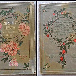 1906 Book Embroidery Lessions with Colored Studies, Brainerd & Armstrong