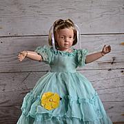 Vintage Ruffled Dress for Medium Composition or Hard Plastic Dolls