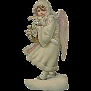 Large 10 inch Victorian Die Cut Snow Child Angel