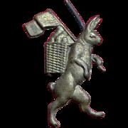 Antique Pressed Metal Finding Patriotic Rabbit from Victorian Metal Wreath #2