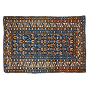 Antique Shirvan Caucasian Oriental Rug with Blue Ground, Late 19th Century
