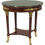 French Empire Style Antique Gueridon Table, Paris c. 1900