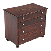 American Federal Miniature Antique Chest of Drawers, Massachusetts c. 1805-15