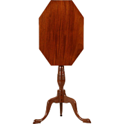 American Federal Antique Candle Stand Side Table, 19th Century
