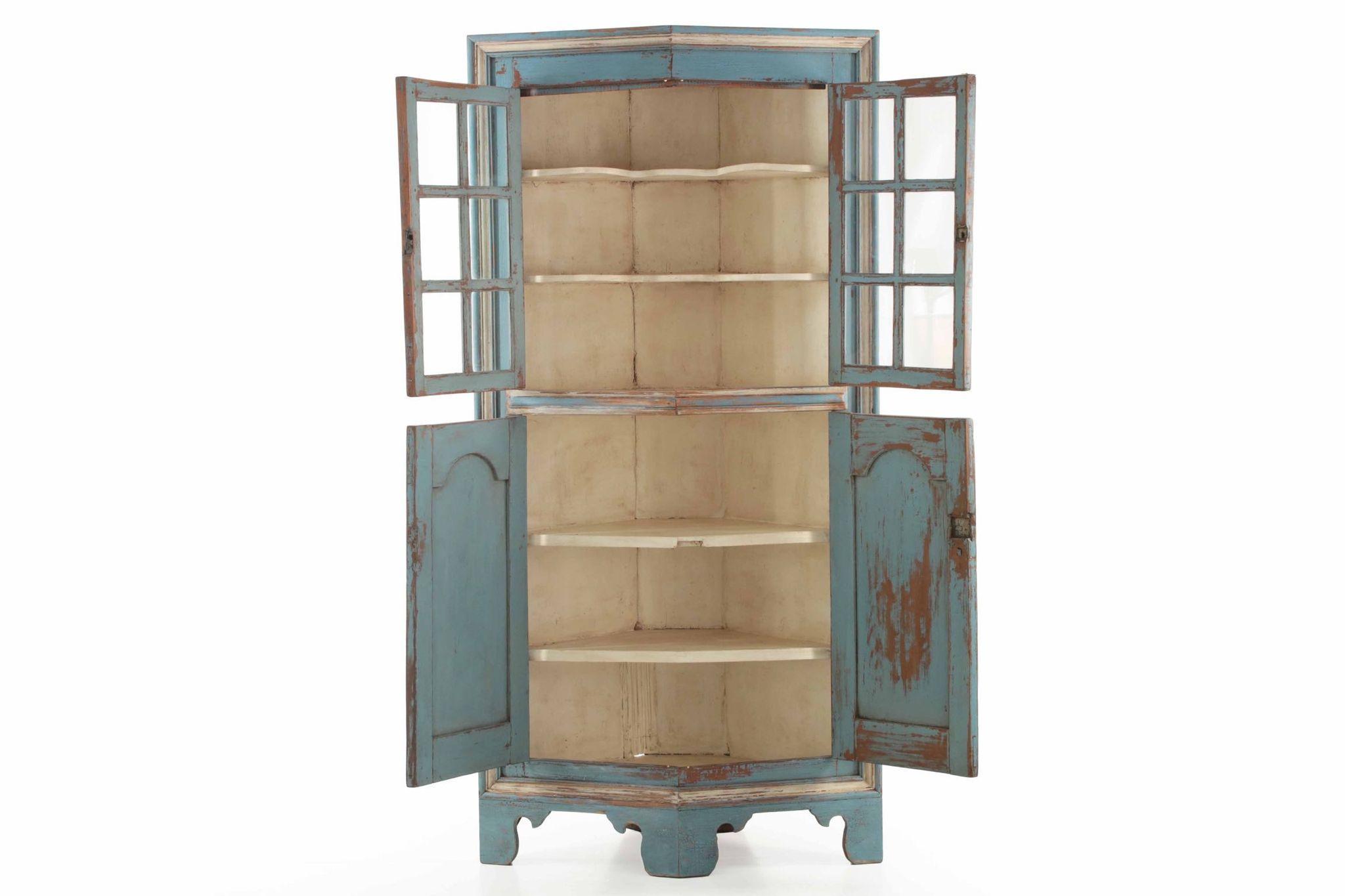 Vintage Corner Cabinet American Chippendale Raised Panel Antique Corner Cabinet Possibly