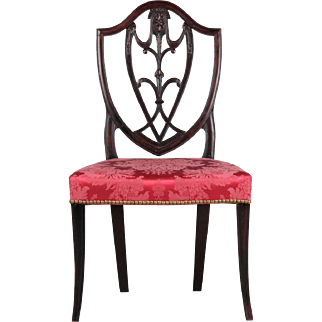 Rare American Federal Mahogany Antique Side Chair, New York c. 1790
