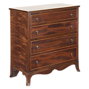 American Federal Miniature Chest of Drawers, New York c. 1800-15, Exceptionally Fine