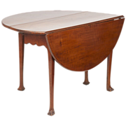 American Antique Drop Leaf Table, c. mid-to-late 18th Century