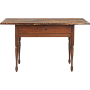 American Painted Antique Tavern Table, New Hampshire c. 1830
