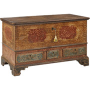 American Antique Blanket Chest of Drawers, Pennsylvania, 18th Century