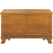American Painted Antique Blanket Chest, Pennsylvania c. 1820-40