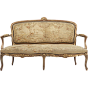 French Louis XV Sofa Settee Antique, 19th Century