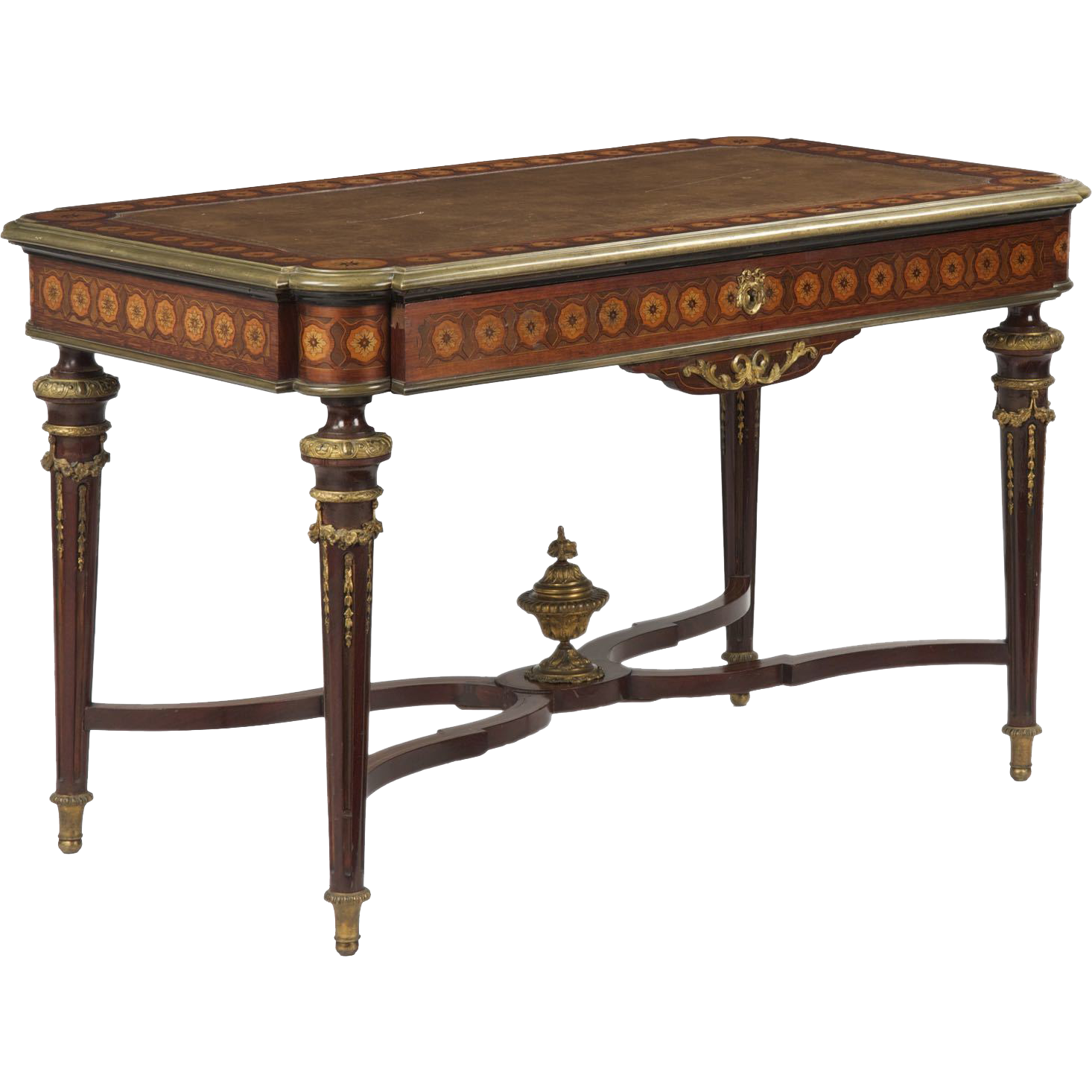 French neoclassical antique bureau plat desk 19th century for Bureau in french