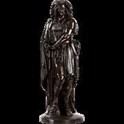 Rare Aime Millet French Bronze Sculpture of Warrior Vercingetorix, Antique c. 1875