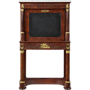 French Empire Antique Secretary Desk, Early 19th Century