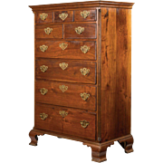 American Chippendale Walnut Chest of Drawers, Pennsylvania, 18th Century