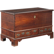 American Chippendale Antique Blanket Chest of Drawers, Pennsylvania, 18th Century