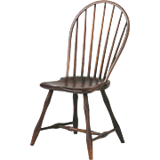 American Bowback Antique Windsor Side Chair, Pennsylvania c. 1800