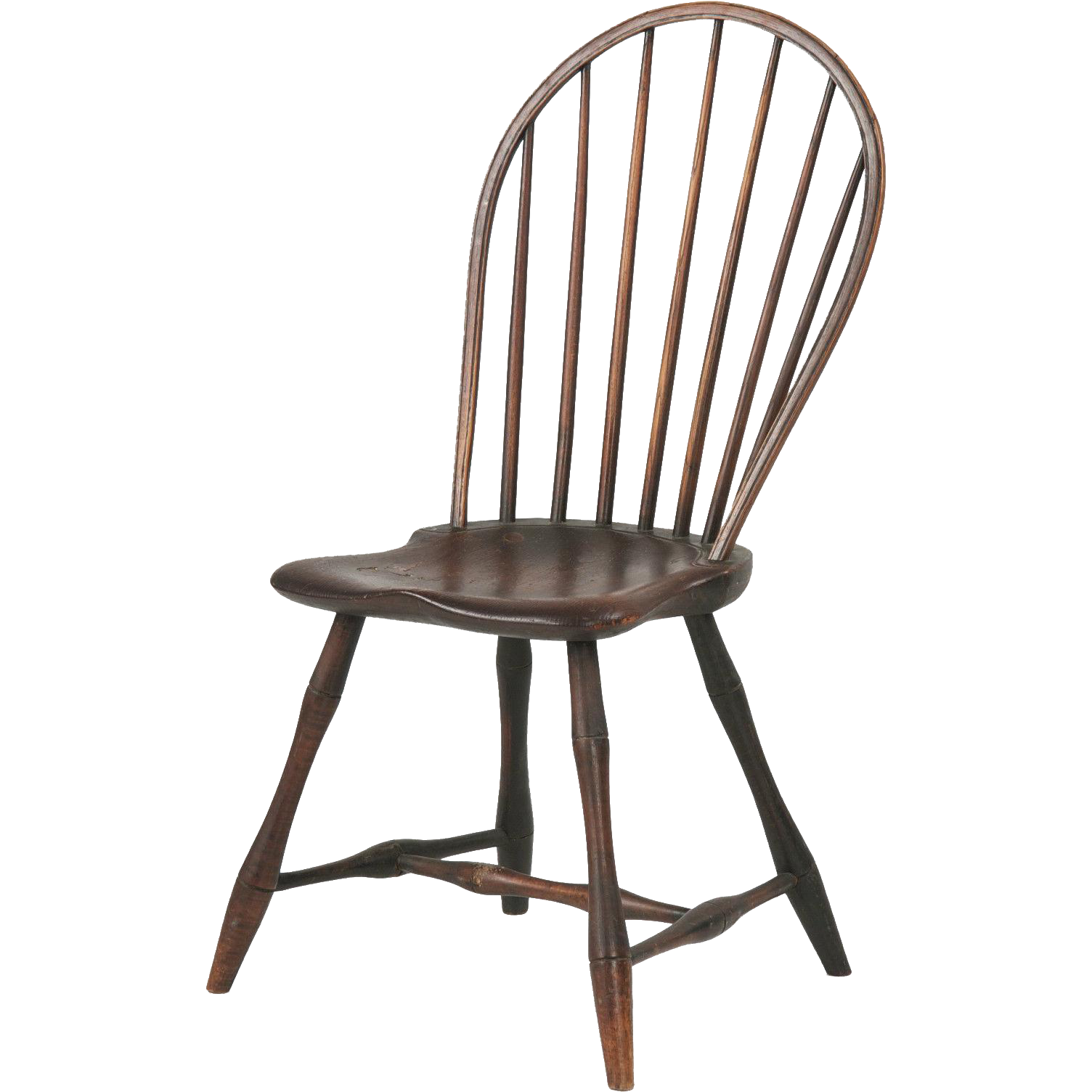 American bowback antique windsor side chair pennsylvania c 1800 from
