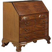 American Chippendale Oxbow Antique Desk c. 18th Century