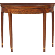 American Federal Mahogany Card Table, Antique c. 1800
