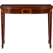 American Federal Style Inlaid Mahogany Card Table, 20th Century
