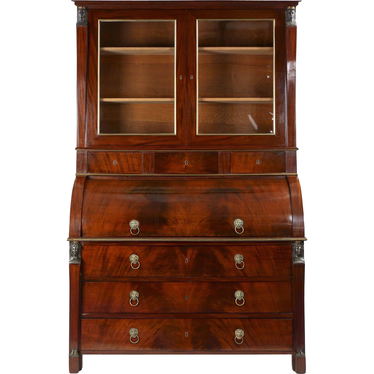 Egyptian French Empire Antique Secretary Desk by Jean-Joseph Chapuis :  Silla, Ltd. | Ruby Lane - Egyptian French Empire Antique Secretary Desk By Jean-Joseph Chapuis