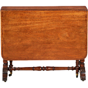 English Regency Mahogany Antique Sunderland Table, 19th Century