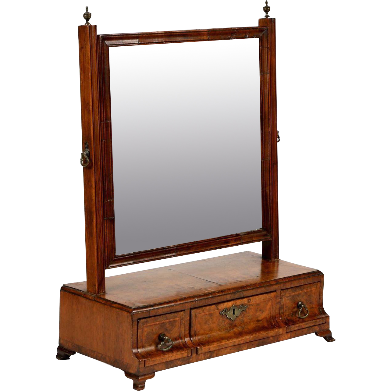 English queen anne dressing mirror 18th century from sillafineantiques on ruby lane for Dressing mirror